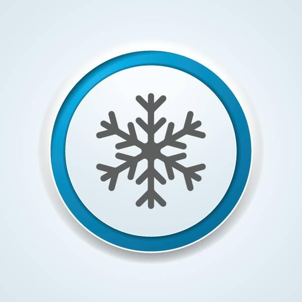 illustrazioni stock, clip art, cartoni animati e icone di tendenza di illustrazione del pulsante fiocco di neve - criobiologia