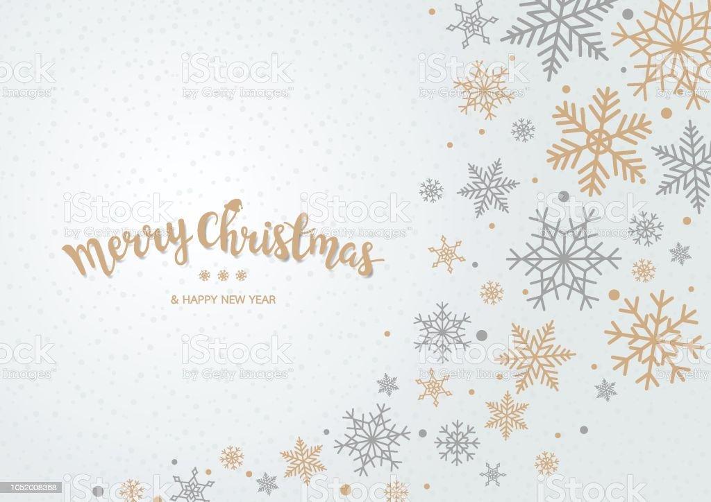 Schneeflocke Weihnachten Hintergrund - Lizenzfrei Abstrakt Vektorgrafik