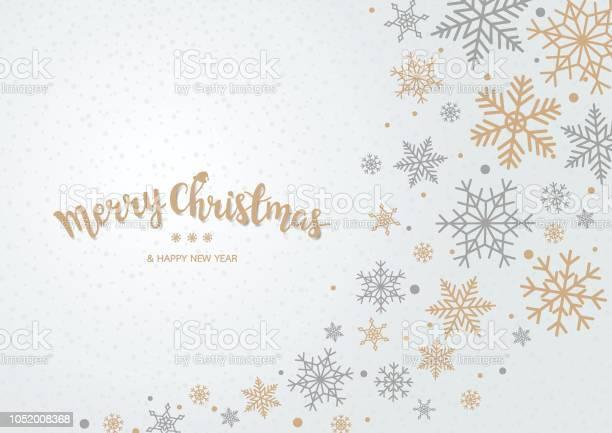 Schneeflocke Weihnachten Hintergrund Stock Vektor Art und mehr Bilder von Abstrakt