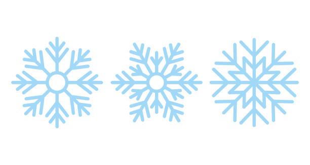 ilustrações, clipart, desenhos animados e ícones de snowflake. ícone do natal. ilustração do vetor no projeto liso. - inverno