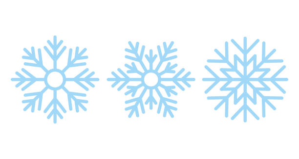 Snowflake. Christmas icon. Vector illustration in flat design. Snowflake. Vector. Christmas icon. Freeze snow. Holiday symbols isolated on white background in flat design. Cartoon color illustration. christmas icons stock illustrations