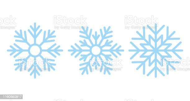 Schneeflocke Weihnachtsikone Vektorillustration In Flachem Design Stock Vektor Art und mehr Bilder von Blau