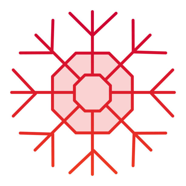 Snowflake color icon. Winter snow crystal theme symbol, gradient style pictogram on white background. Christmas holiday sign for mobile concept and web design. Vector graphics. Snowflake color icon. Winter snow crystal theme symbol, gradient style pictogram on white background. Christmas holiday sign for mobile concept and web design. Vector graphics winter weather clip art stock illustrations