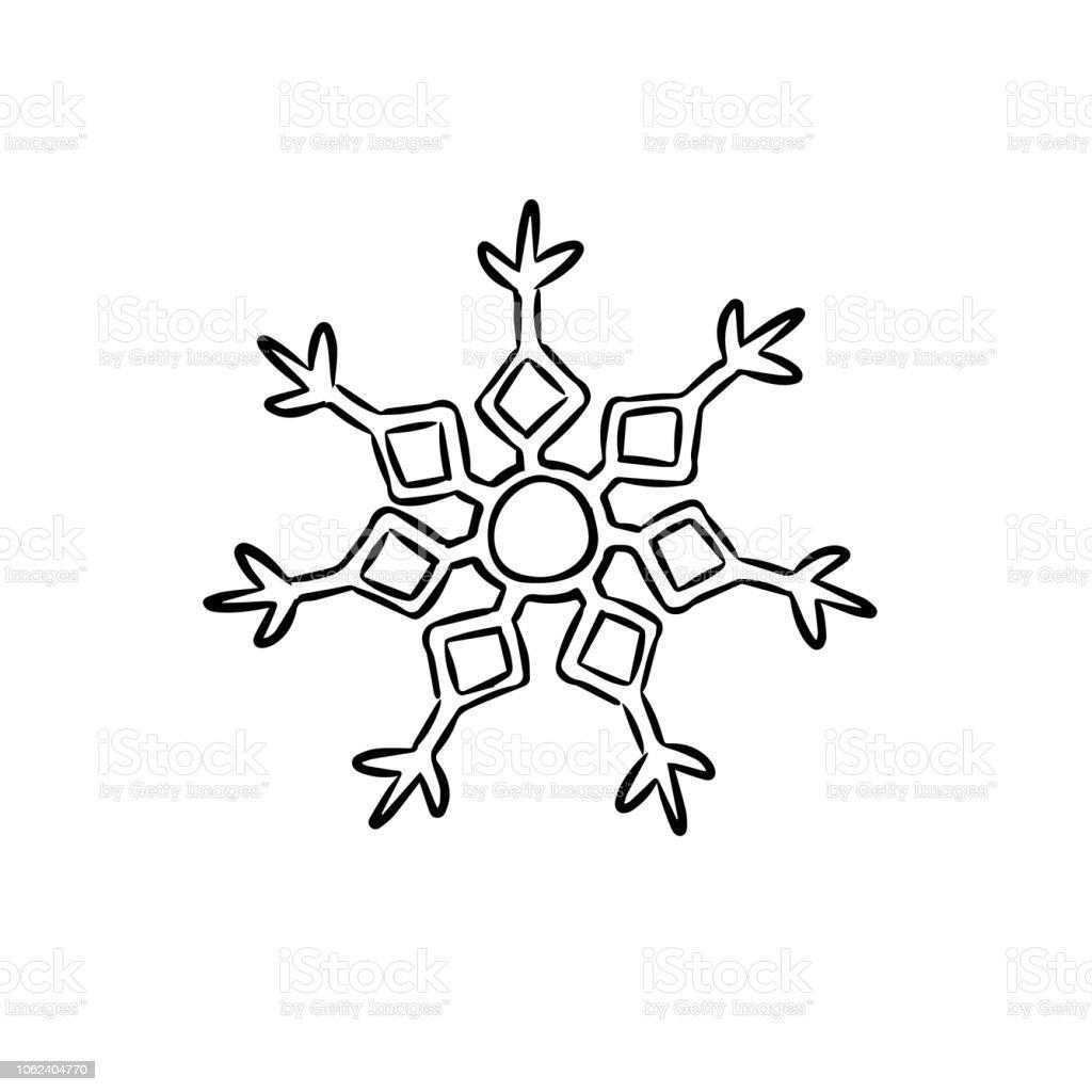 schneeflocke einfach zum ausmalen  malvorlagen