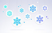 Snowflake winter holiday background.