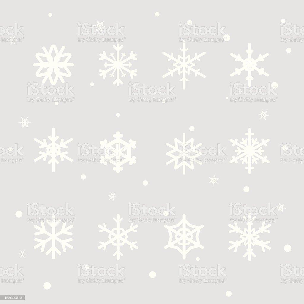 Snowflake Design Elements vector art illustration