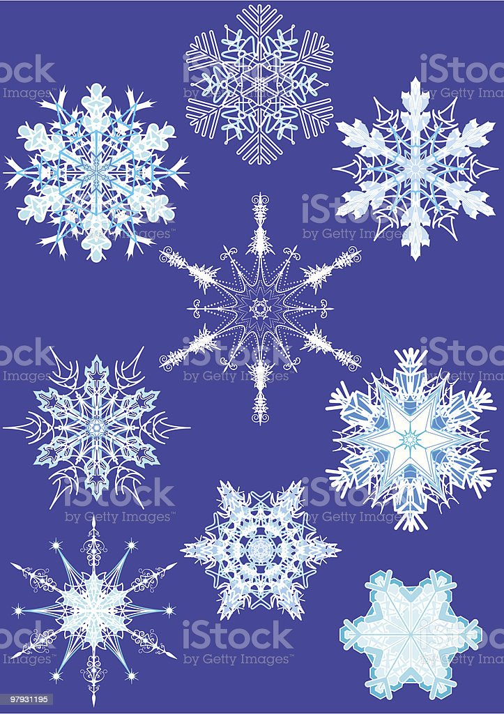 Snowflake design elements. royalty-free snowflake design elements stock vector art & more images of abstract