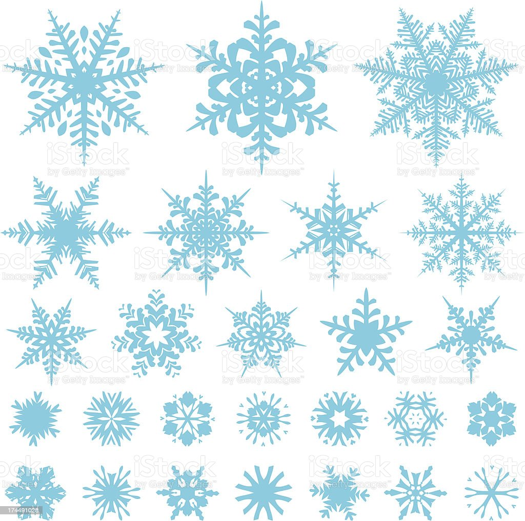 Snowflake designs royalty-free stock vector art