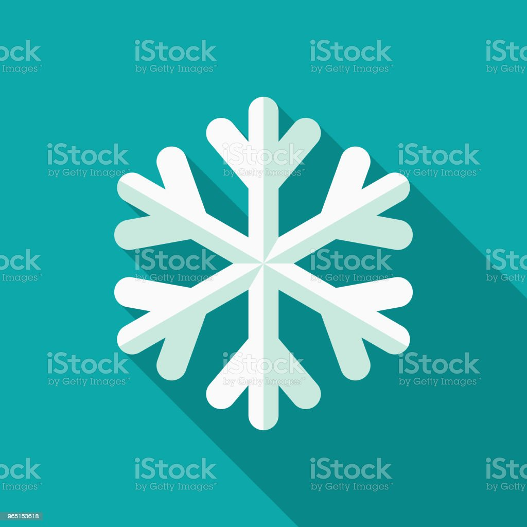 Snowflake Flat Design Winter Icon with Side Shadow royalty-free snowflake flat design winter icon with side shadow stock vector art & more images of blue