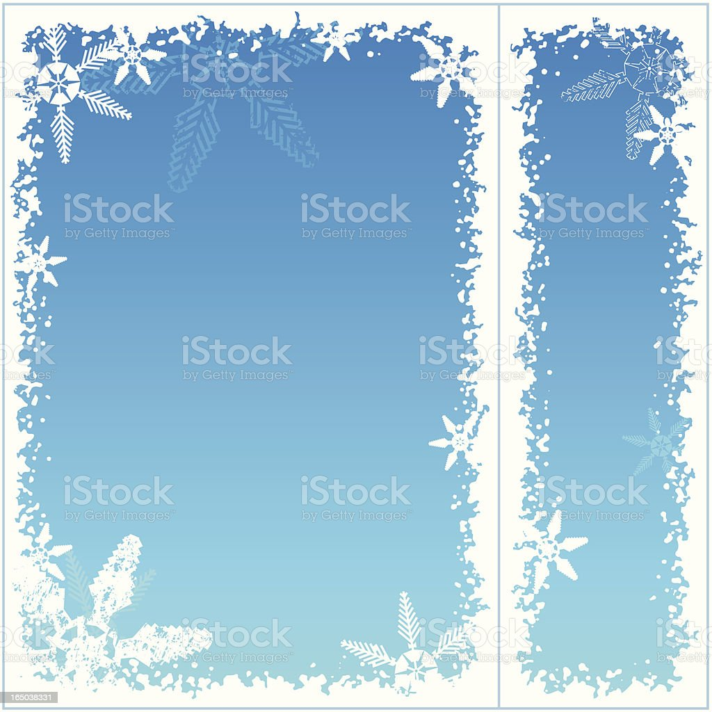 Snowflake frame 06 royalty-free stock vector art