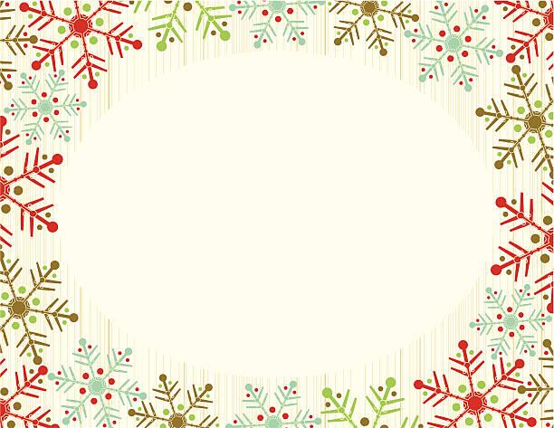 Marco de copo de nieve - ilustración de arte vectorial