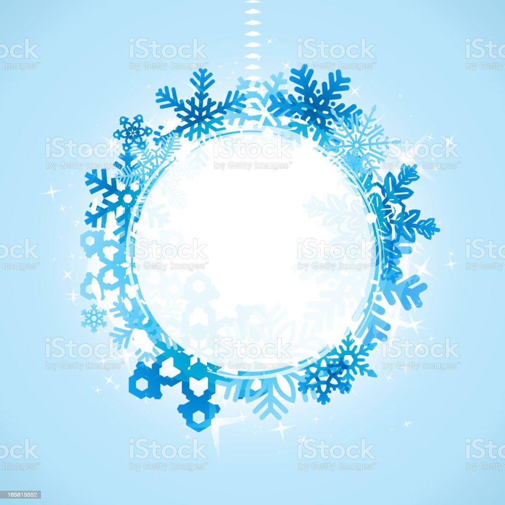 Snowflake frame royalty-free stock vector art