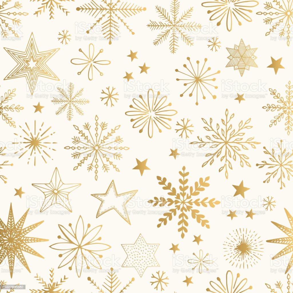 Schneeflocke gold Muster. Glitzer-Vektor-Illustration. - Lizenzfrei Biegung Vektorgrafik