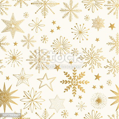 istock Snowflake gold pattern. Glitter vector illustration. 1027593562