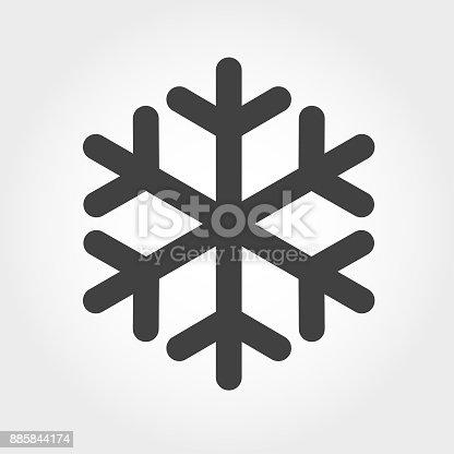 istock Snowflake Icon - Iconic Series 885844174