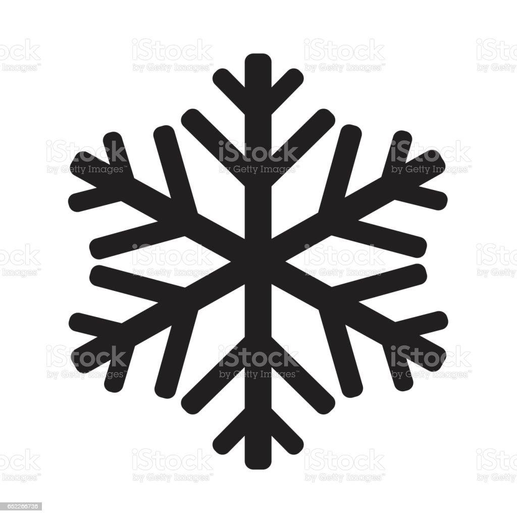 snowflake icon illustration design vector art illustration