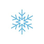 istock Snowflake Icon Logo Template Illustration Design. Vector EPS 10. 1223285437
