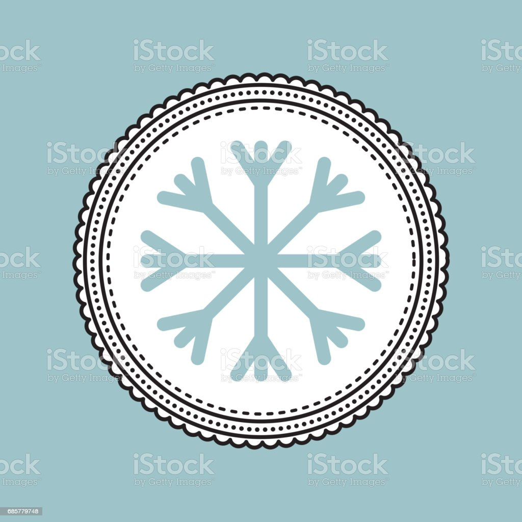 Snowflake icon. Merry Christmas design. Vector graphic royalty-free snowflake icon merry christmas design vector graphic stock vector art & more images of arts culture and entertainment
