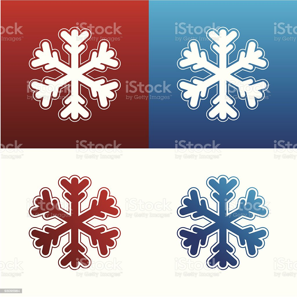 Snowflake icon set royalty-free snowflake icon set stock vector art & more images of abstract