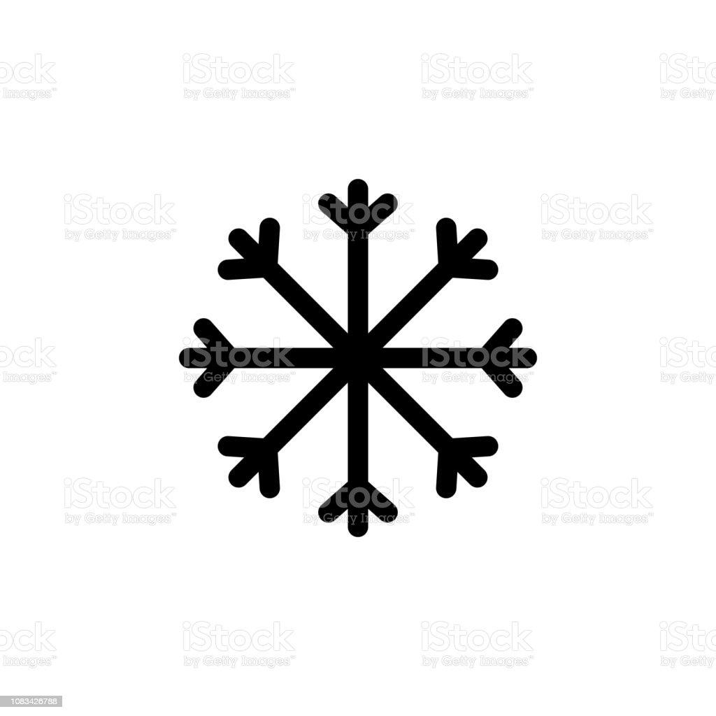 Ilustración De Icono Del Copo De Nieve Vector De Glifo