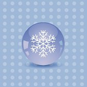 colorful illustration with snowflake icon for your design