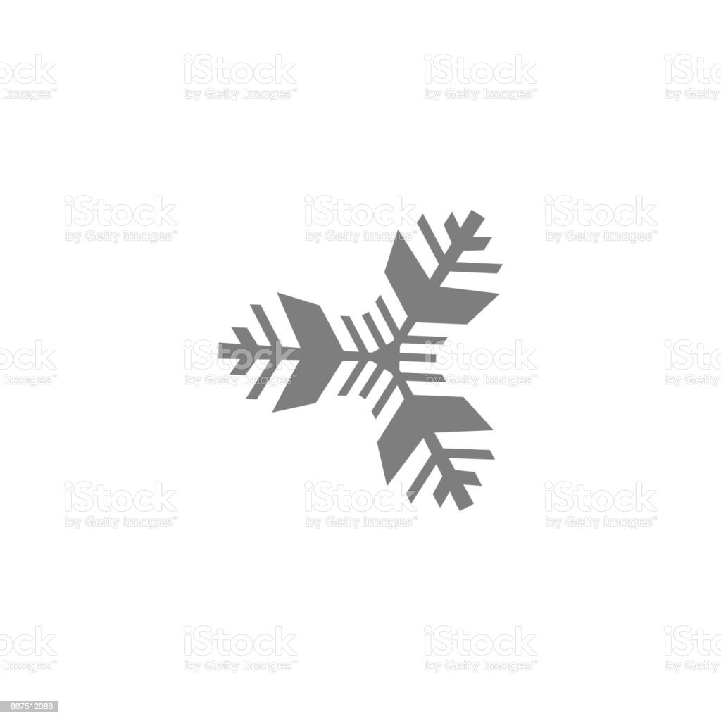 Snowflake Icon Vector Isolated. Black and white vector art illustration