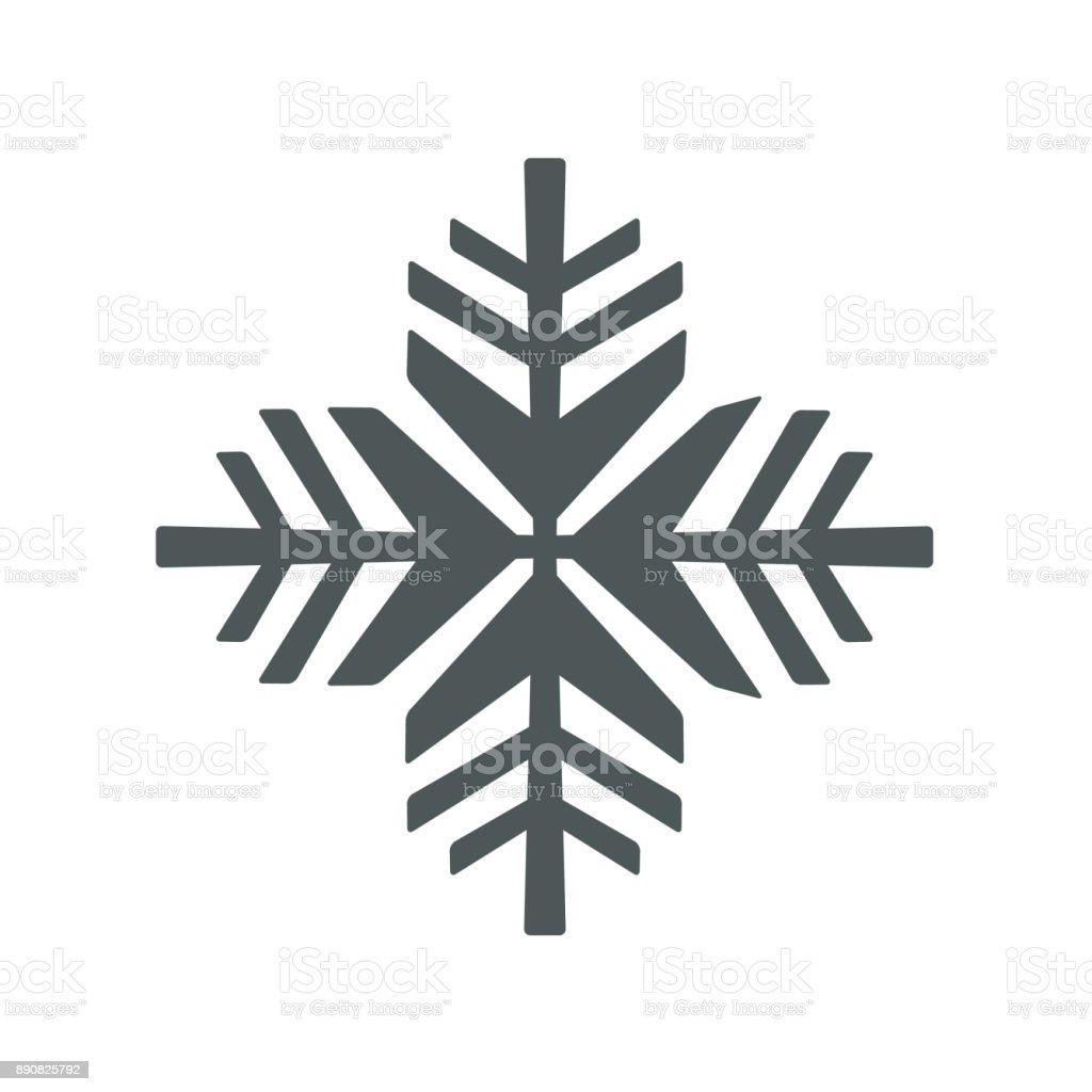Snowflake icon. Vector snowflake sign, isolated snowflake symbol vector art illustration