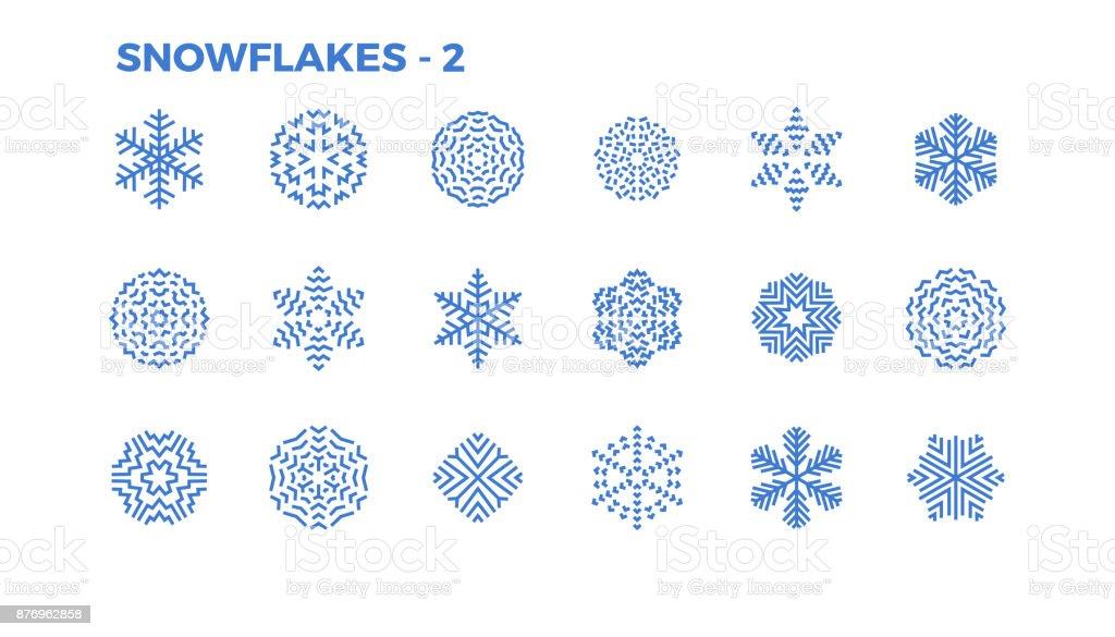 Themen Zu Weihnachten.Schneeflockesymbole Dekorative Elemente Von Themen Winter Und