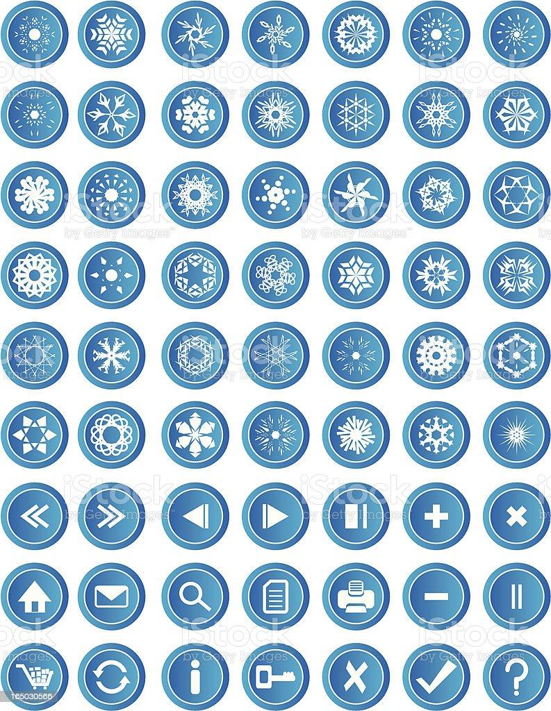 Snowflake Icons ( Vector ) royalty-free stock vector art