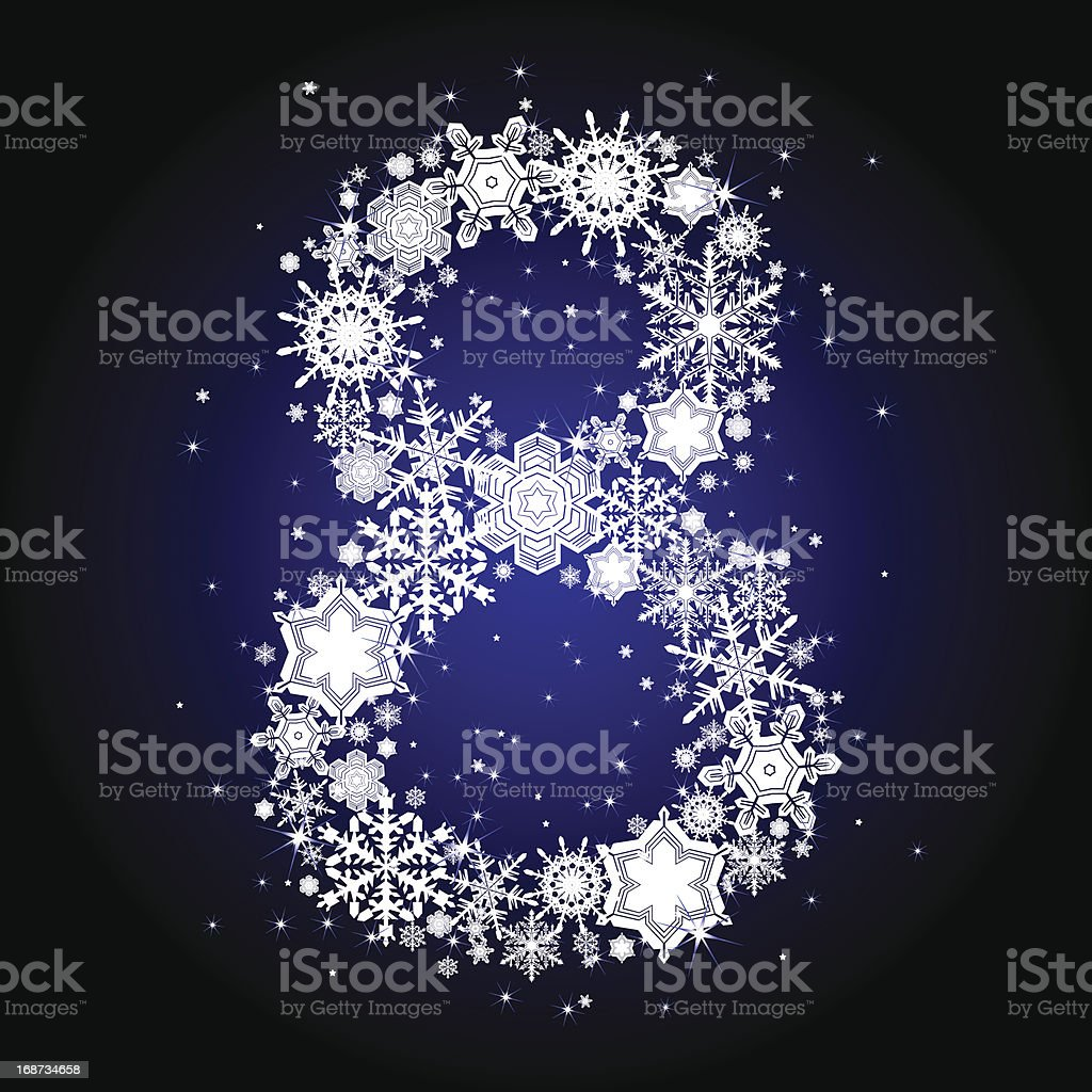 Snowflake number royalty-free stock vector art