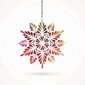 snowflake pattern.EPS10