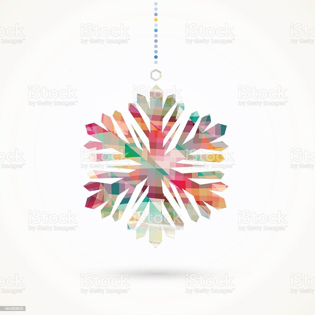 snowflake pattern vector art illustration