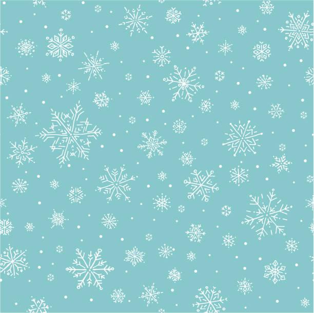 stockillustraties, clipart, cartoons en iconen met sneeuwvlok-patroon - snowflakes