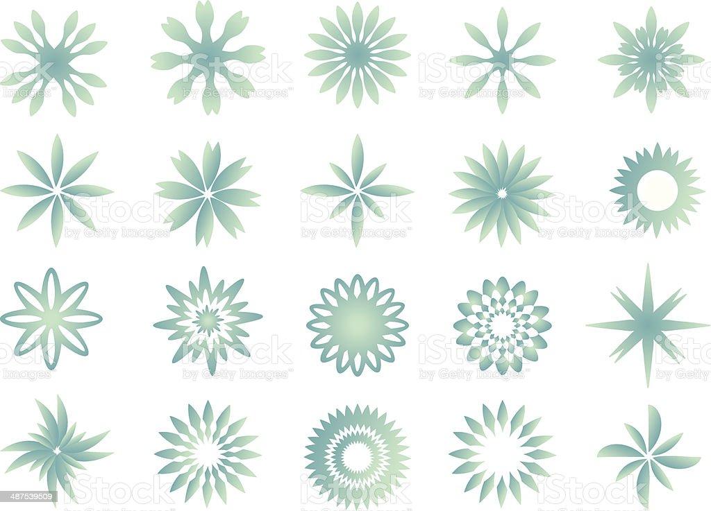 Snowflake Pattern Vector Illustration vector art illustration
