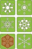 Snowflake Patterns ( Vector )