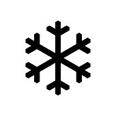 Snowflake pictogram, icon isolated on a white background. EPS10 vector file