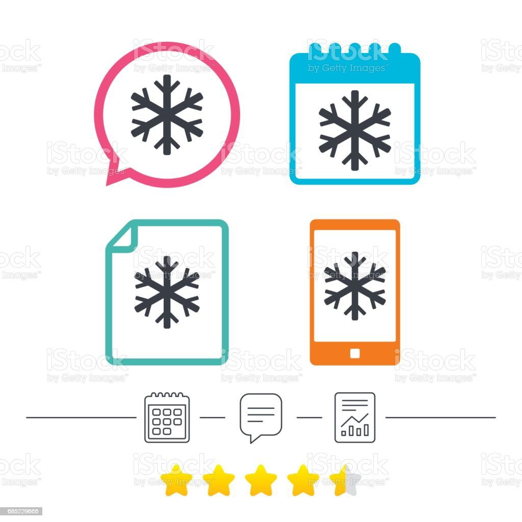 Snowflake sign icon. Air conditioning symbol. royalty-free snowflake sign icon air conditioning symbol stock vector art & more images of art