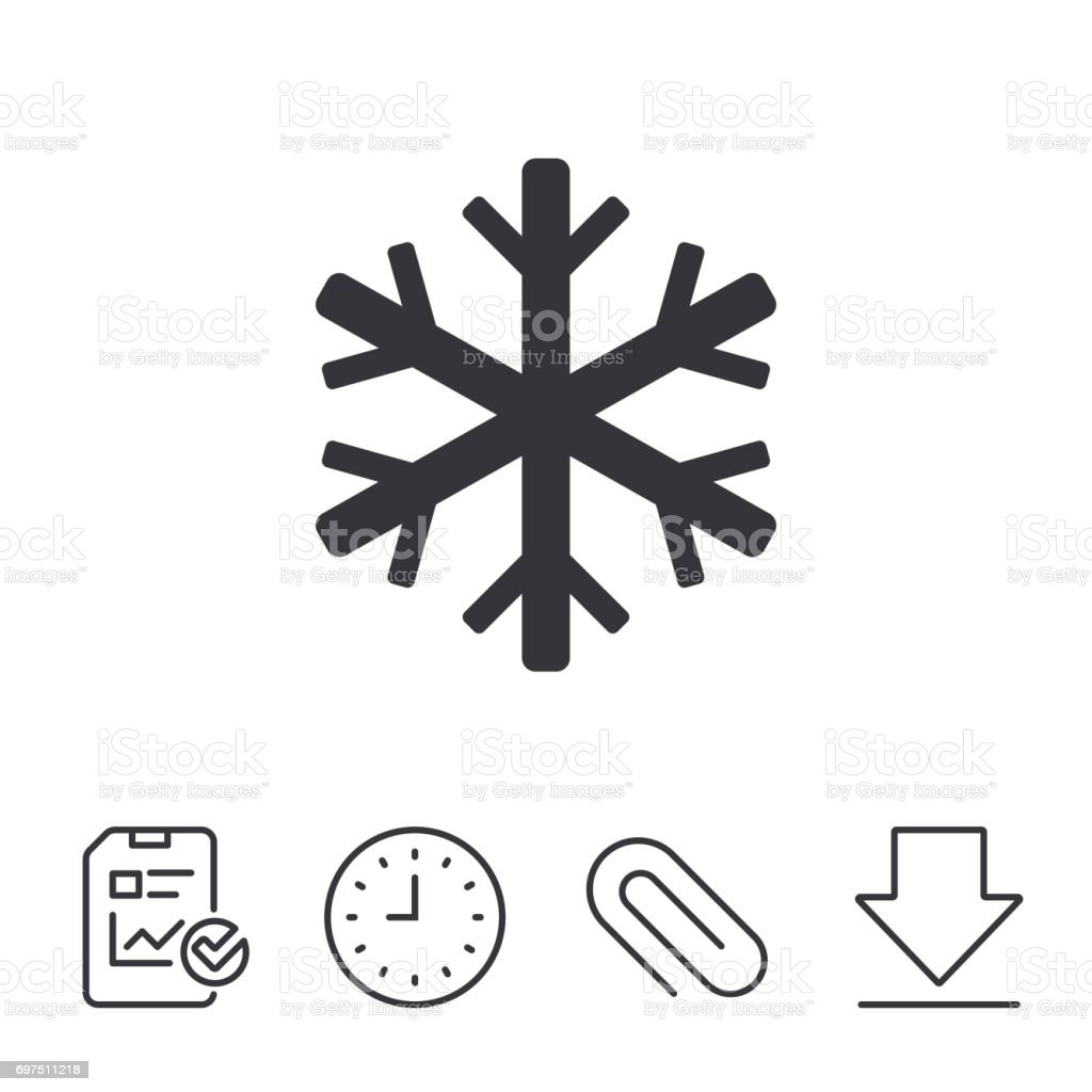 Snowflake Sign Icon Air Conditioning Symbol Stock Vector Art More