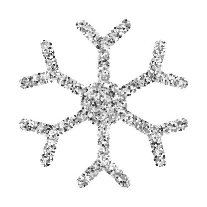 Snowflake Silver Glitter Vector Icon Stock Illustration - Download Image Now