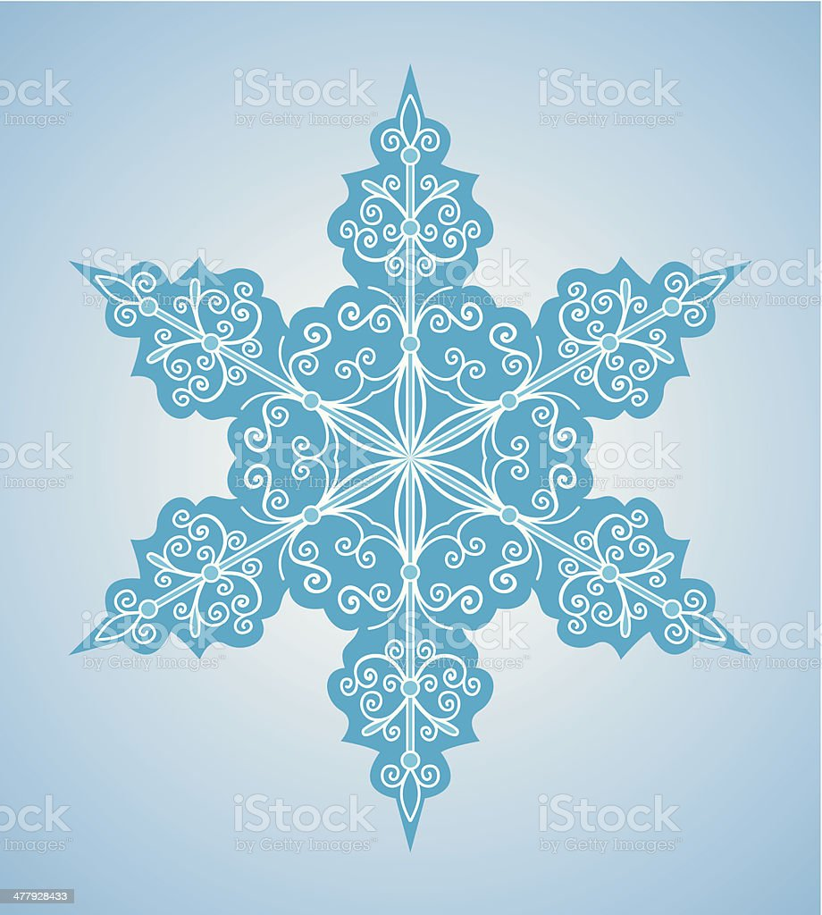 Snowflake six-sided pattern royalty-free stock vector art