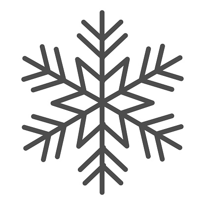 Snowflake solid icon, New Year concept, frozen winter flake symbol on white background, Snowflake icon in glyph style for mobile concept and web design. Vector graphics.