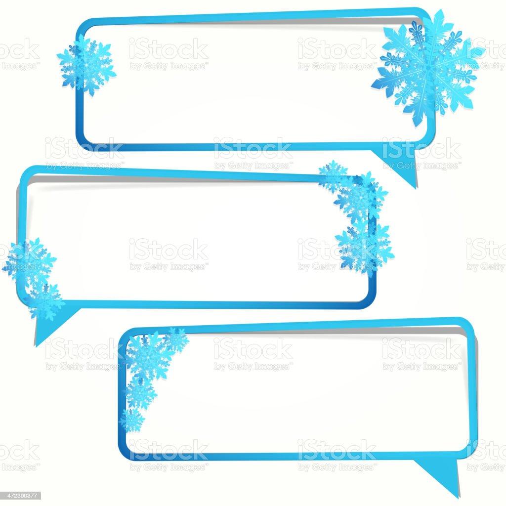 Snowflake Speech Bubble royalty-free stock vector art
