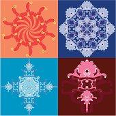 snowflake sun new year decoration