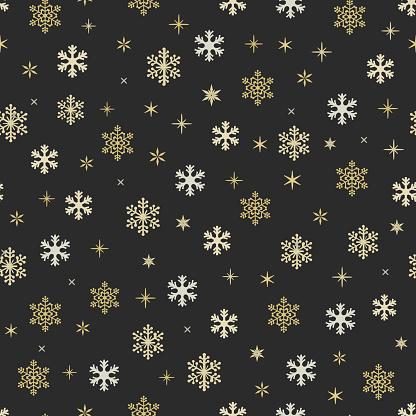Snowflake symbol Christmas seamless pattern