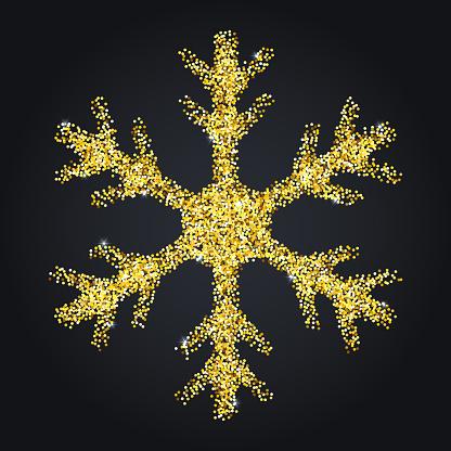 Snowflake symbol Christmas vector illustration