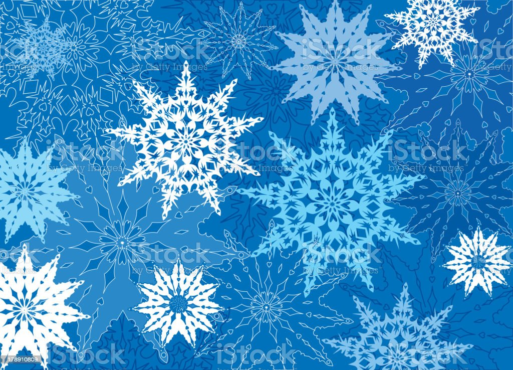 Snowflake texture. Snow ornament. royalty-free stock vector art