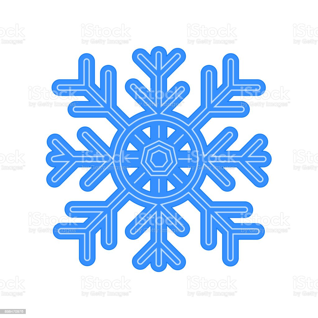 Snowflake Vector Icon Isolated on Whiite Background