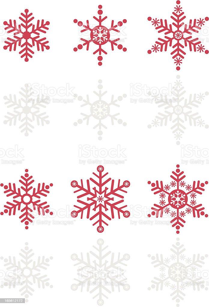 Snowflake Vector Icon Set royalty-free stock vector art