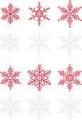 Snowflake Vector Icon Set
