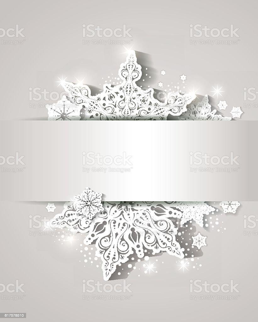 Schneeflocke-Schneekristall  – Vektorgrafik